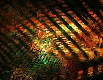 Photograph - Below Abstract by Radoslav Nedelchev