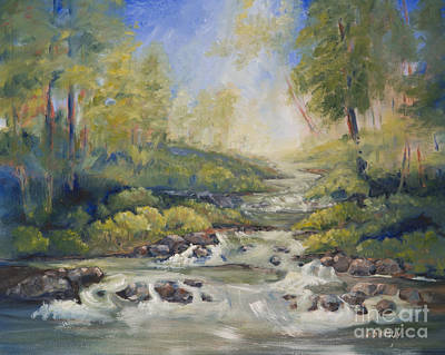 Painting - Below Amicalola Falls Painting by Sally Simon