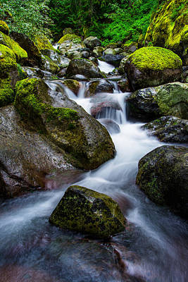 Waterfall Photograph - Below Rainier by Chad Dutson