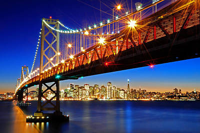 Below The Bay Bridge And San Francisco Skyline Art Print