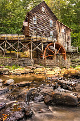 Grist Mill Photograph - Below The Old Mill by Gregory Ballos