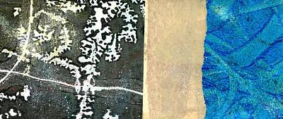 British Abstract Art Painting - Below Zero by Shuya Cheng