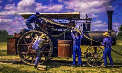 Keck Photograph - Belting A Reeves V2 by F Leblanc