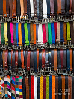 Belts Galore Art Print by Inge Johnsson