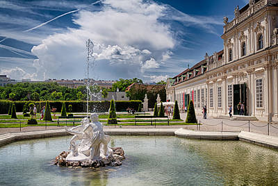Belvedere Fountains Art Print by Viacheslav Savitskiy