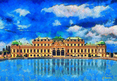 Belvedere Palace Art Print by George Rossidis