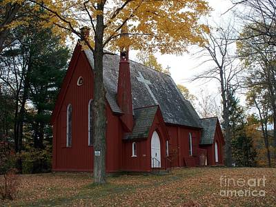 Photograph - Belvidere Christ Episcopal Church by Christian Mattison