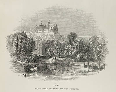 Wood Engraving Photograph - Belvoir Castle by British Library