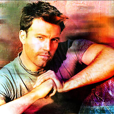 Ben Affleck Wall Art - Mixed Media - Ben Affleck by Marvin Blaine