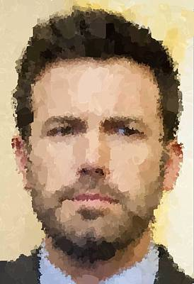 Ben Affleck Wall Art - Painting - Ben Affleck Portrait by Samuel Majcen