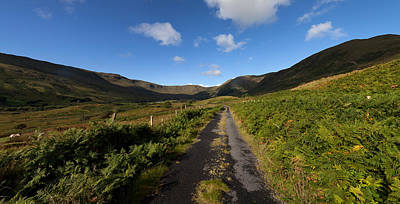 Connemara Photograph - Ben Beg And Road Along The Side by Panoramic Images
