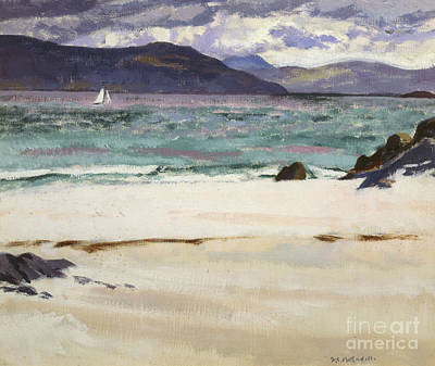 Ben Bhuie From The North End   Iona Art Print by Francis Campbell Boileau Cadell