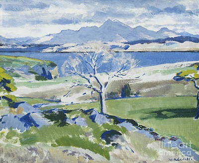 Ben Cruachan From Achnacraig Art Print by Francis Campbell Boileau Cadell
