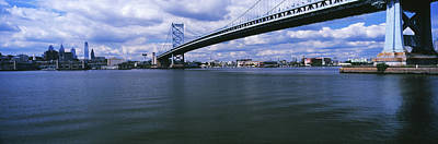 Franklin Photograph - Ben Franklin Bridge Across The Delaware by Panoramic Images