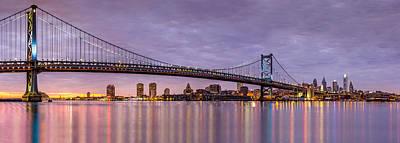 Photograph - Ben Franklin Bridge And Philadelphia Skyline by Mihai Andritoiu