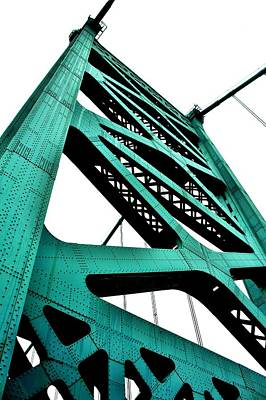 Photograph - Ben Franklin Bridge by Benjamin Yeager