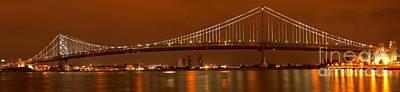 Photograph - Ben Franklin Bridge Giant Panorama by Adam Jewell