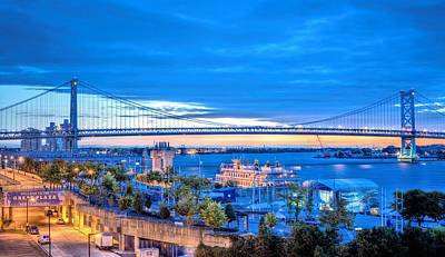 Photograph - Ben Franklin Bridge by JC Findley