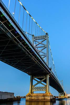 Ben Franklin Bridge Art Print by Louis Dallara