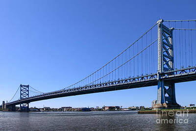 Ben Franklin Bridge Art Print by Olivier Le Queinec
