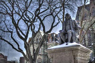 William Penn Photograph - Ben Franklin College Hall - Upenn by Mark Ayzenberg