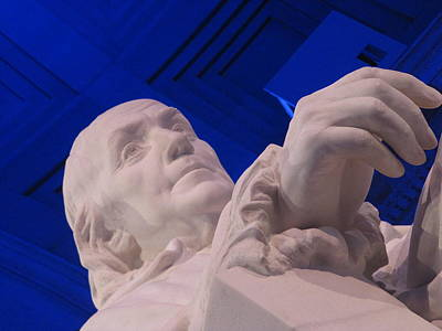 Art Print featuring the photograph Ben Franklin In Blue I by Richard Reeve