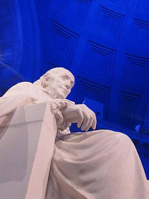 Art Print featuring the photograph Ben Franklin In Blue II by Richard Reeve