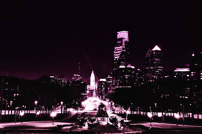 Franklin Digital Art - Ben Franklin Parkway In Black And White by Bill Cannon