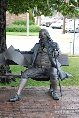 Ben Franklin Statue Art Print