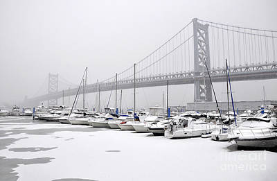 Photograph - Ben Franklin Yacht Harbor by Andrew Dinh