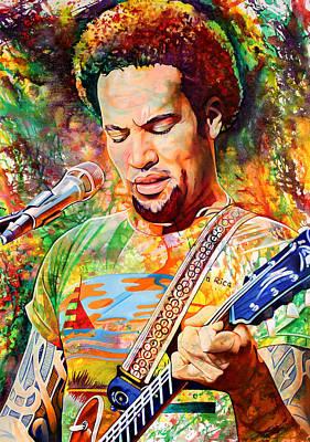 Ben Harper Painting - Ben Harper 2012 by Joshua Morton