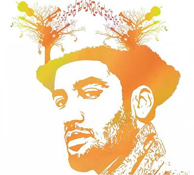 Musicians Mixed Media Rights Managed Images - Ben Harper Pop Art Royalty-Free Image by Dan Sproul