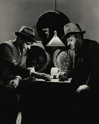 Backgammon Photograph - Ben Hecht And Charles Macarthur Playing by Lusha Nelson