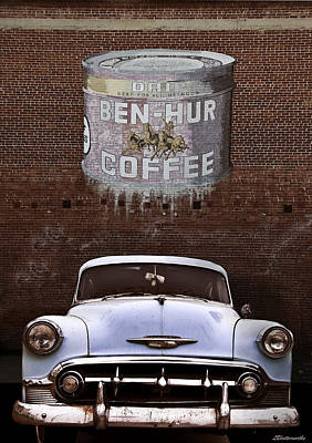 Ben Hur Coffee Art Print by Larry Butterworth