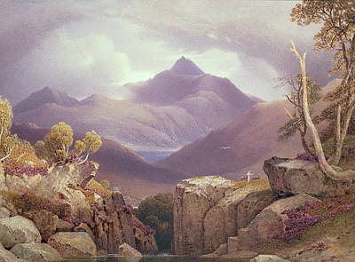 Mountain Drawing - Ben Lomond by George Fennel Robson