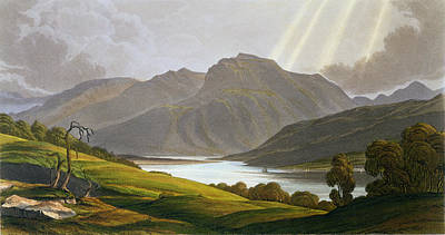 Serene Drawing - Ben Nevis by George Fennel Robson
