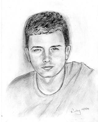 Drawing - Ben by Veronica Rickard