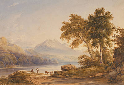 Heightened Painting - Ben Vorlich And Loch Lomond by Anthony Vandyke Copley Fielding