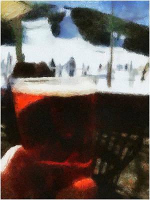 Ski Run Painting - Benada's Winter Toast by Marshall Thomas