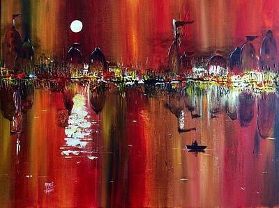 Benaras - Fiery Reflections Of A Holy City Original by Aarti Bartake