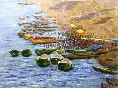 Benaras Ghats 2 Original by Uma Krishnamoorthy