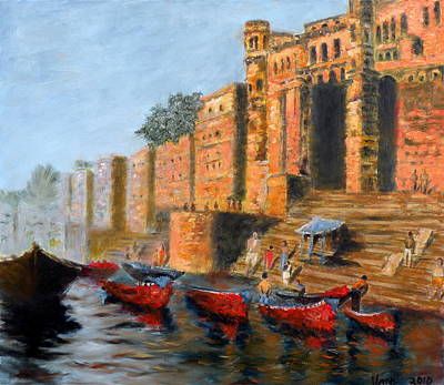 Benaras Ghats Original by Uma Krishnamoorthy