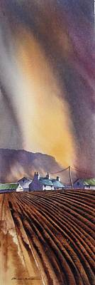 Mystic Desert Painting - Benbulbin Farm by Roland Byrne