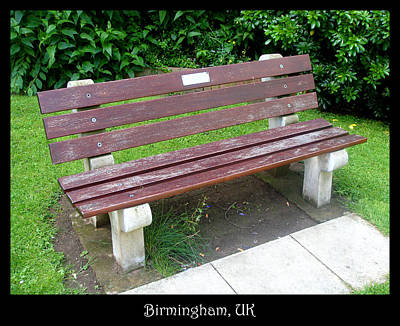 Photograph - Bench 13 by Roberto Alamino