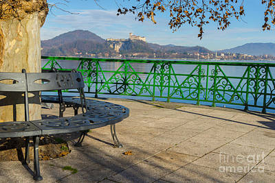 Bench And Castle Art Print by Mats Silvan