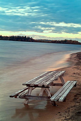 Abstract Beach Landscape Photograph - Bench And Table  by Ulrich Schade
