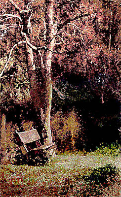 Painting - Bench And Tree by Daniel Bonnell