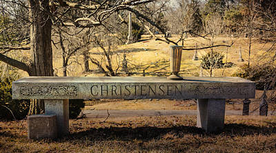 Photograph - Bench At Spring Grove by Diana Boyd