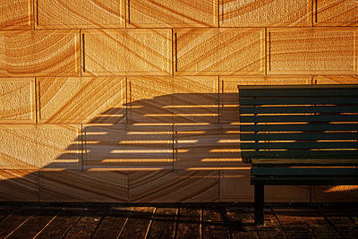 Photograph - Bench At Sunrise by Inge Riis McDonald
