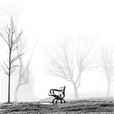 Bench Art Print by Brian Carson